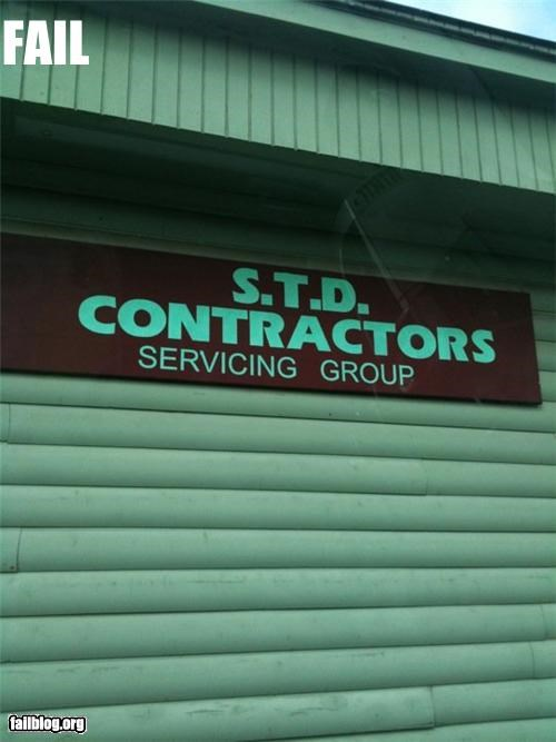 business name,contractors,failboat,innuendo,STD