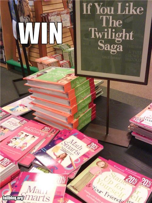 books,bookstore,display,failboat,g rated,sign,tweens,twilight,vampires,win