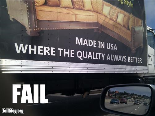 failboat poorly worded pride quality trucks usa - 3858704128