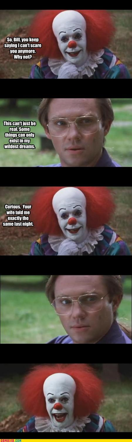 adultry,clowns,dreams,From the Movies,it,scary,tim curry