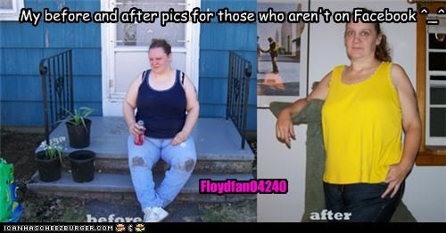 My before and after pics for those who aren't on Facebook ^_^