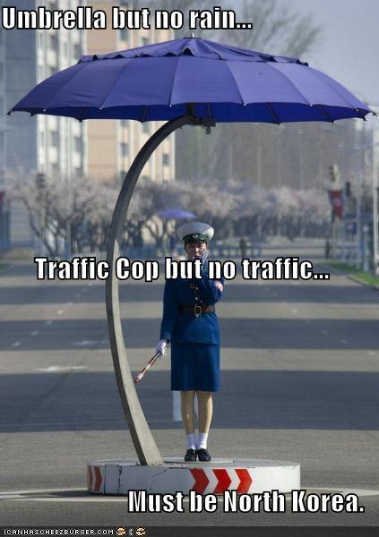 funny lolz North Korea traffic lady - 3864325888