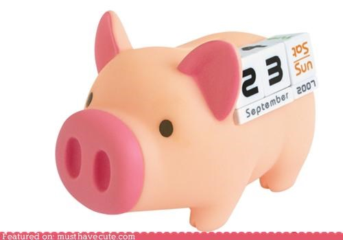 bank calendar date money pig save