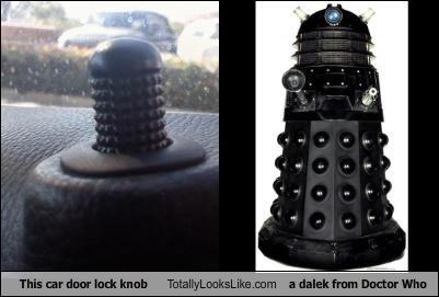 car door lock knob dalek doctor who - 3868483328