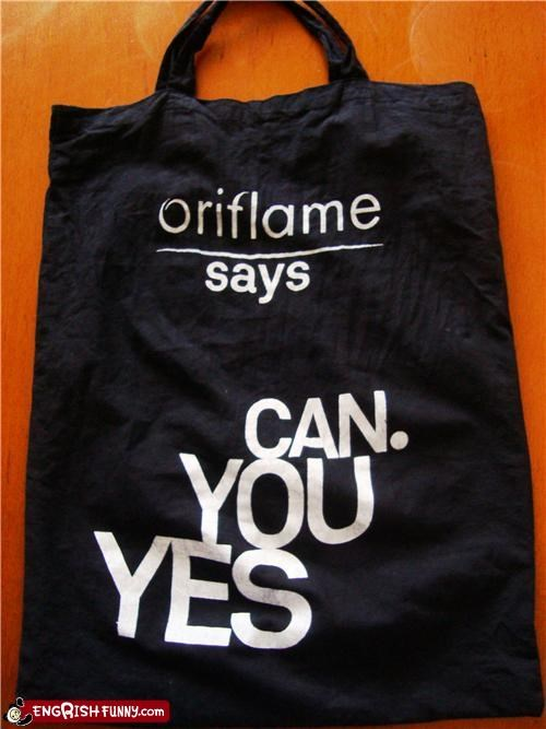 bag,engrish,yes you can