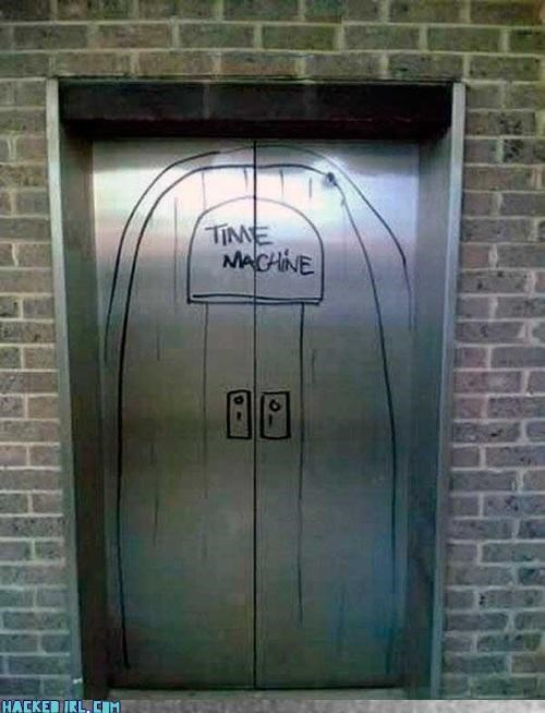 awesome doctor who elevator time machine win