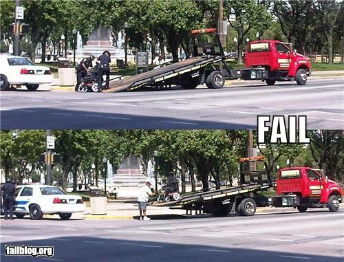 failboat g rated handicap mobility scooter parking tow truck - 3870085632