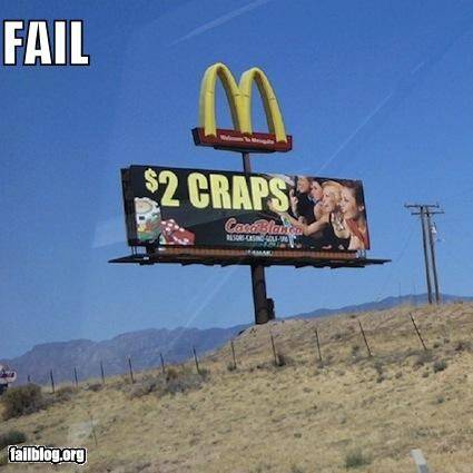 advertisements,billboards,failboat,gambling,Hall of Fame,juxtaposition,McDonald's,signs