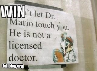 advice,Dr Mario,failboat,mario,signs,win