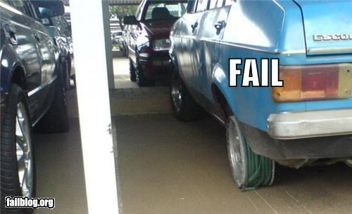 cars DIY failboat g rated hoses parking tires - 3870294272