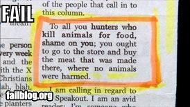 animals are you serious failboat grocery store hunters killers meat newspapers rights warning - 3870295808