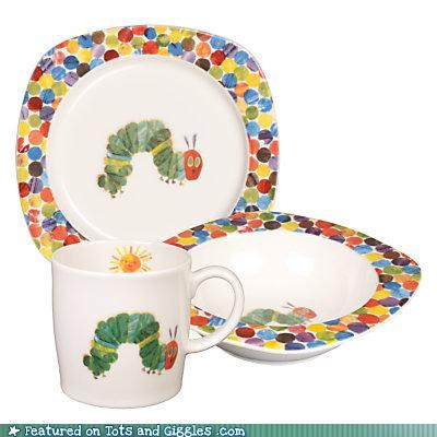 Babysaur bowl cup gift plate tableware very hungry caterpillar - 3870949632