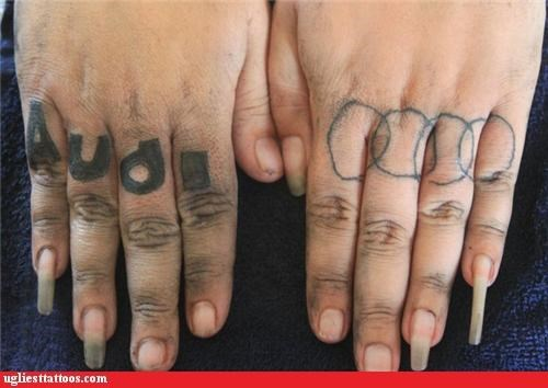 brand loyalty,knuckle tats,poor execution,words