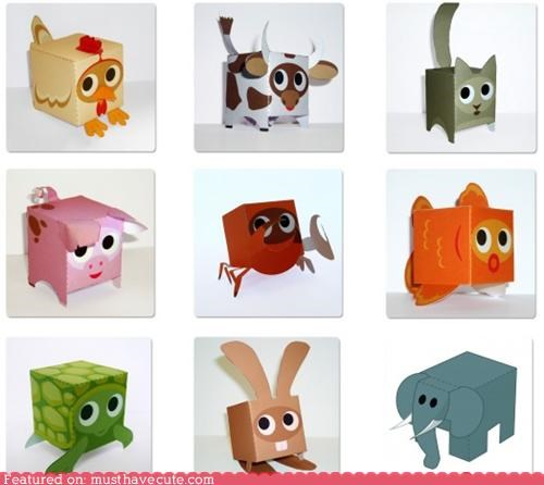 art,cute boxes,free paper crafts,Paper Crafts,toys