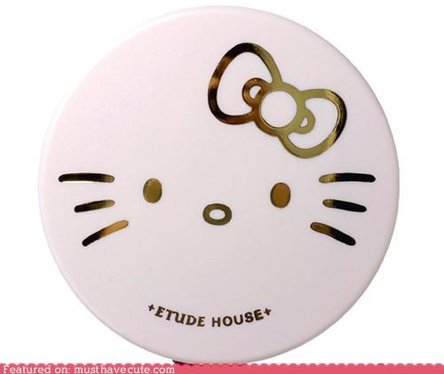 beauty compact cosmetics hello kitty makeup powder - 3873418496
