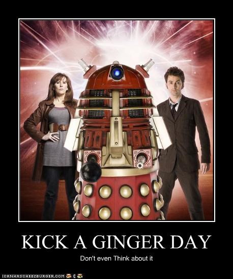 alien Buffy celebrity-pictures-dr-who-kick-a-ginger daleks doctor who Kirsti Alley Lorne max ROFlash
