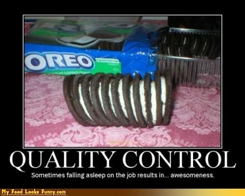 awesomeness cookies meme Oreos quality control stuffing Sweet Treats - 3873576704