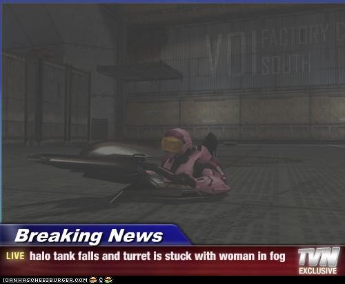 Breaking News Halo Tank Falls And Turret Is Stuck With Woman In