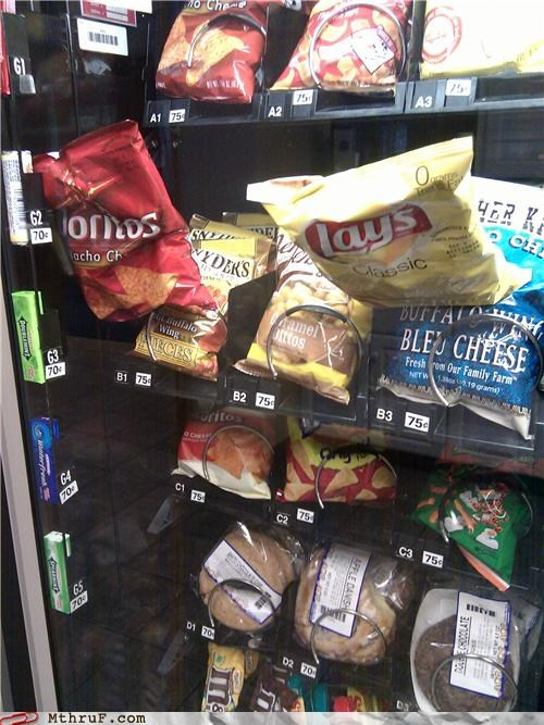 chips double fail FAIL vending machine