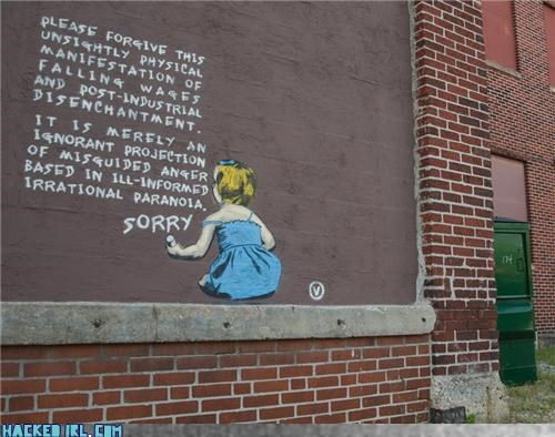 apology,art,banksy,graffiti,paranoia
