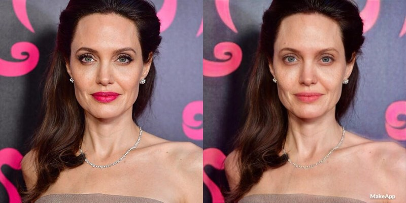 Make up removal app discover how celebrities really look like