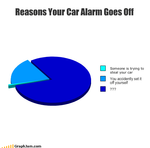 car alarm,false alarm,Pie Chart,shut up,thief