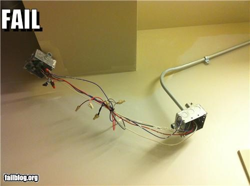 DIY electrical failboat thats-dangerous wires zip ties - 3878727424