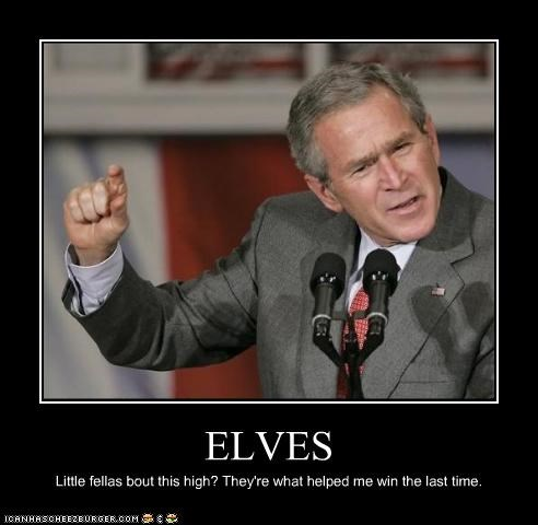 creatures election elves george w bush magic president voting - 3878834688