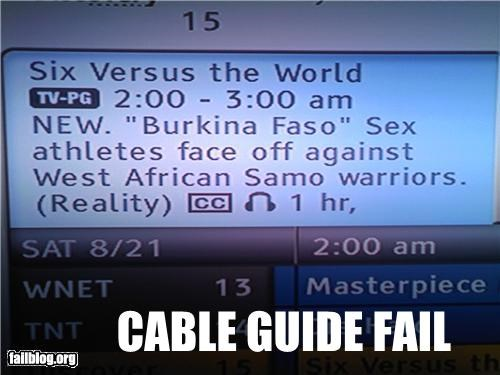 cable,failboat,guide,television