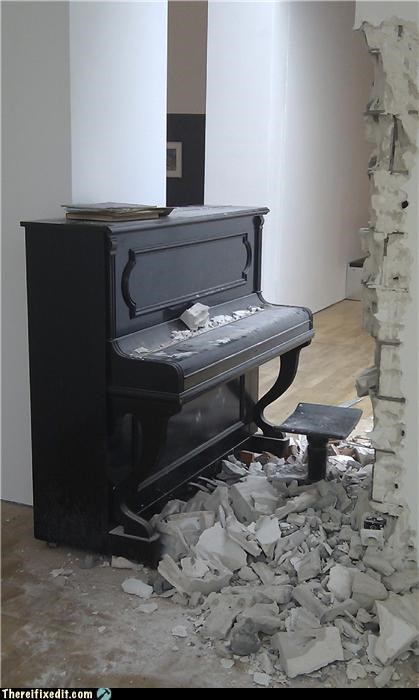 destruction,instrument,messy,not a kludge,piano