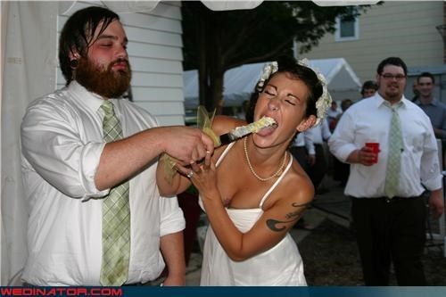 accident apathetic groom cake knife Crazy Brides crazy groom Dreamcake eww funny wedding photos groom stabs wife in the mouth knife miscellaneous-oops rock n roll surprise sweaty groom tattooed bride technical difficulties were-in-love wedding cake cutting whoa there groom wtf - 3879652864
