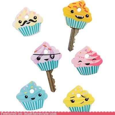 accessory Cupcake key covers cute key covers gadget Keychain - 3879885824
