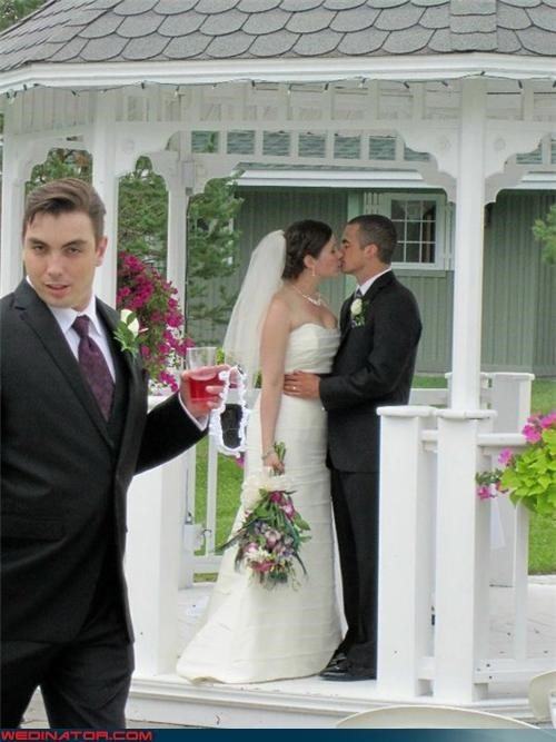 blue steel face bride cheers creepy groomsman Funny Wedding Photo groom groomsman groomsman photobomb miscellaneous-oops photobomb surprise technical difficulties were-in-love Wedding Photobomb whoops wtf - 3879953664