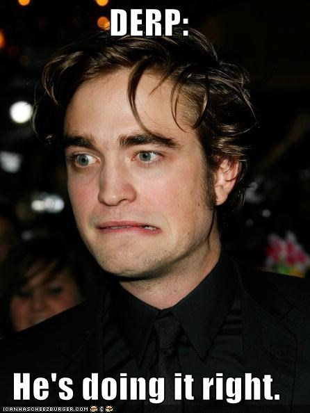 celebrity-pictures-robert-pattinson-derp celeb justin beiber robert pattinson ROFlash ROLFlash - 3880412928