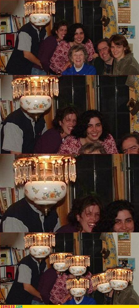 face replace,face swap,family,lamp head,photobomb,the internets