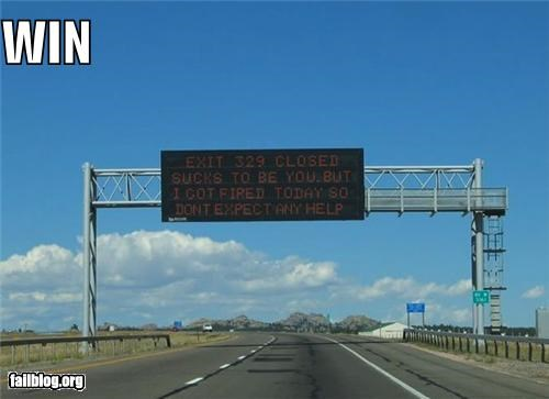 failboat hacked quit road signs signs win - 3880512256