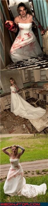Crazy Brides eww fashion is my passion freaky trash the dress picture funny wedding pictures Just Divorced scary bride scary wedding picture surprise trash the dress trend wedding dress trashing Wedding Themes wtf WTF-ery - 3880525312