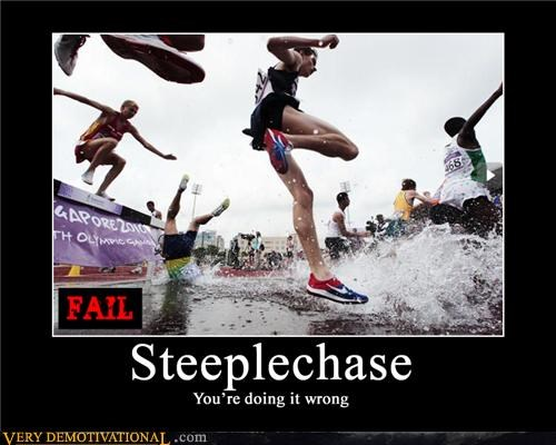steeplechase,race,doing it wrong