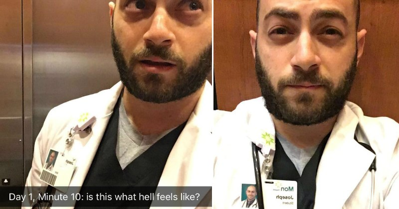 Doctor Documents His Time Stuck In An Elevator in Hilarious Snapchat Story