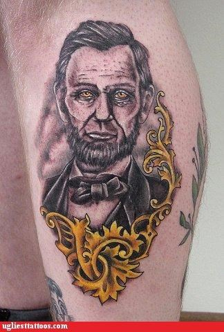 Abe Lincoln I see dead people politics portraits - 3884440064