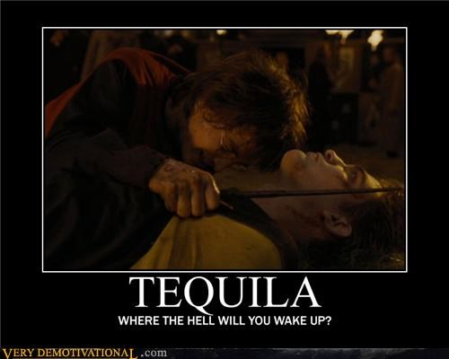 Harry Potter tequila passed out
