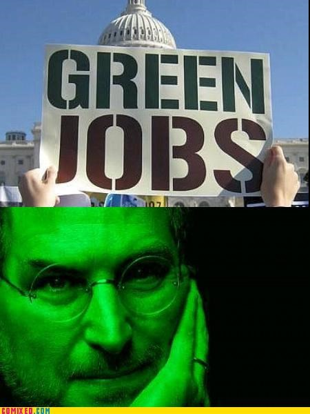 economy environment green puns solutions steve jobs the internets