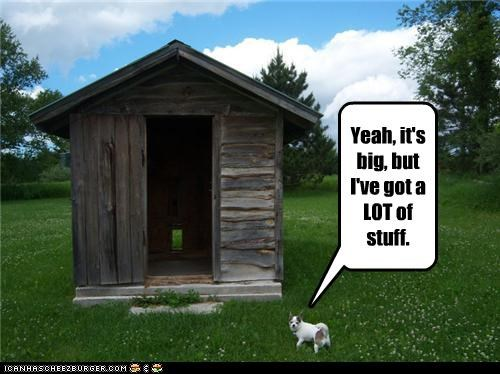 big,dog house,lots,outhouse,storage,stuff,whatbreed