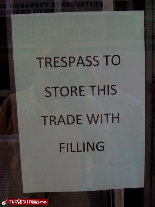 sign store trespassing warning - 3887524352