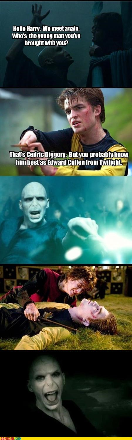 edward cullen From the Movies Harry Potter magic vampires voldemort wizards - 3888369408