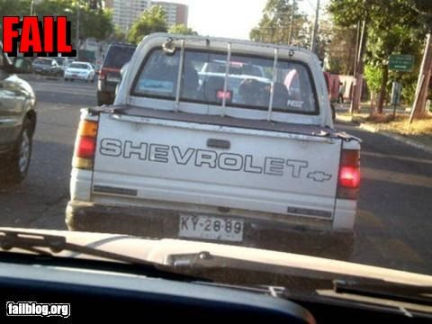 Brand Name Fail Shevrolet?? I don´t know this brand!!