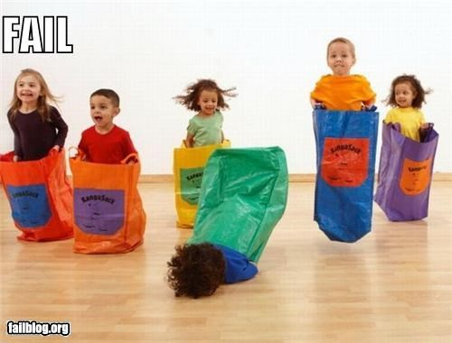 faceplant failboat g rated jumping kids sacks toys - 3890120448