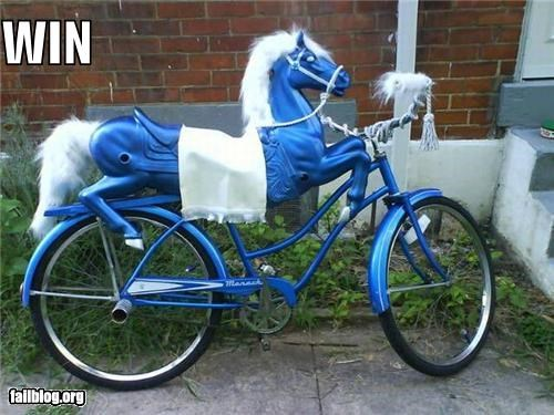 awesome bike failboat g rated hybrid ponies transportation win - 3890124288