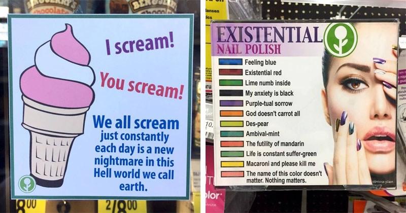 Funny and dark list of nihilist memes.