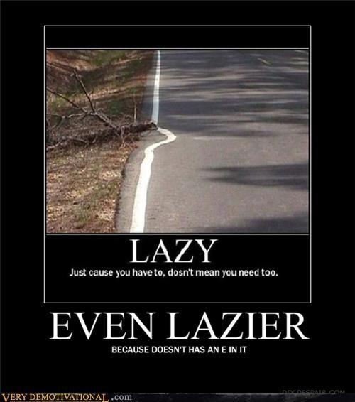 lazy,typo,spelling